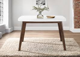 White Top Mid Century Modern Dining Table Kirklands Rh Com Chairs Room Tables