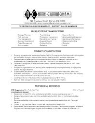 Business Management Resume Samples