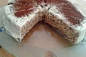 fitness apfel nuss kuchen mit quarkhaube