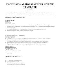 Sample Resume Housekeeping Room Attendant Housekeeper For Objective To