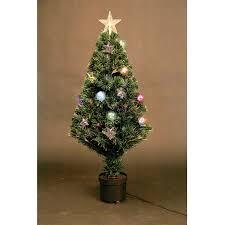 Pre Lit Christmas Tree Led Fibre Optic Prelit Light Up Xmas Home In 4ft