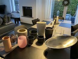 11 töpfe blumentopf vase übertopf schale deko dutz glas grau weiß