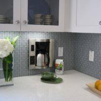 kitchen decoration using light green subway tile kitchen