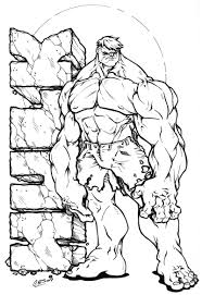 Incredible Hulk Coloring Pages To Print Archives Best Page Free Colouring