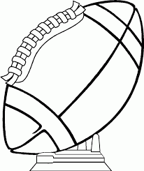 Nfl Coloring Pages Trophy