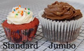 Jumbo Vs Standard Cupcake