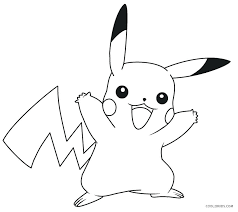 Pikachu Coloring Pages Printable For Kids Christmas