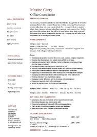 fice coordinator resume example sample administration areas