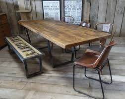 Perfect Industrial Style Dining Table And Bench Etsy More Colour Package John Lewi Calium Vintage Reclaimed E X T N D I G Chair Room Set Lighting Uk