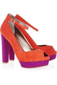 dkny corey color block suede peep toe pumps my color fashion