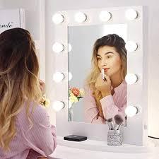 chende weiß spiegel mit beleuchtung für wandmontage gross schminkspiegel mit licht für schlafzimmer tabletop professioneller beleuchteter