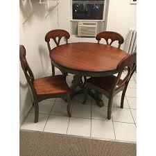 Pier One Round Dining Room Table by Pier 1 Marchella Sage Round 5 Piece Dining Set Aptdeco