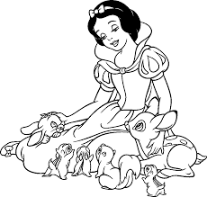 Disney Princess Black And White Clipart 1