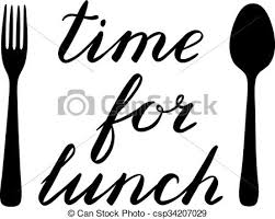 Time For Lunch Hand Made Brush Lettering With A Fork And Spoon Cute Handwriting Can Be Used Scrapbooks Photo Overlays More