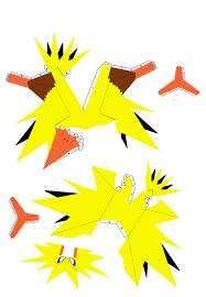 Pokemon Templates Print Beautiful Papercraft Pikachu Number 1 Electric Set