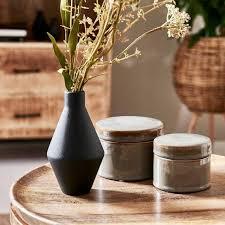 schwarze vase depot living at home