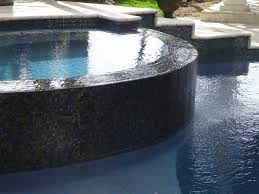 Pool Waterline Tiles Sydney by Cloud White Glimmer Glass Tile Glass Pool Steps And Tile Ideas