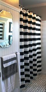 Bathroom Curtain Rod Walmart by 3 Black And White Horizontal Stripe Shower Curtain Shower Curtains
