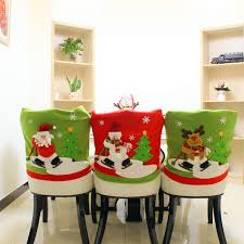 1 Pcs Lovely Christmas Chair Covers Santa Claus Deer Snowman Doll Dining Room Cover