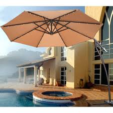 patio ideas led rectangle patio umbrella aluminum solar crank