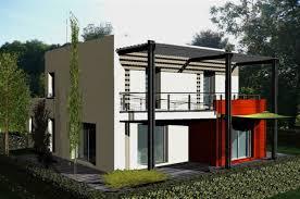 voir maison de ville moderne toit plat
