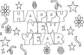 Download New Year Coloring Pages 7