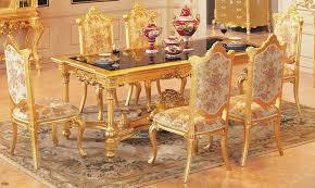 Esszimmer Verschiedene Stã Hle Luxus Esstisch Set Esstisch Mit 6 Stühle Holz Essplatz Gold Farbe Möbel
