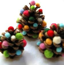 Pine Cone Christmas Tree Ornaments Crafts by Last Minute Thanksgiving Table Decorations I Kiwi Crate Pine