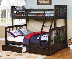 Kids Room Bunk Bed With Desk And Built In Storage Drawers