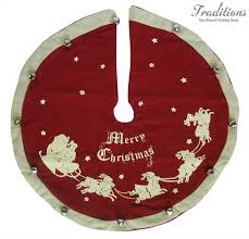 MINI MERRY CHRISTMAS TREE SKIRT Felt Jingle Bells 12 Diameter PK16555 1999 Add To Cart IN STOCK ONE LEFT