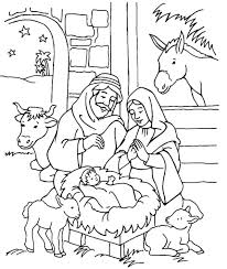 Baby Jesus In Manger Coloring Page