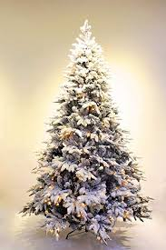 6ft Pre Lit Real Feel Flocked Alpine Spruce White Artificial Christmas Tree