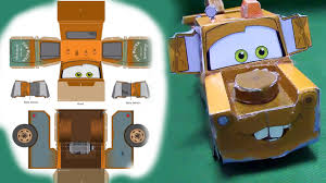Tow Mater 3D Papercraft How To Make Disney Pixar Awesome