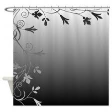 Black And White Flower Shower Curtain by Black And White Shower Curtain Foter