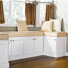 build a custom look window seat using stock kitchen cabinets