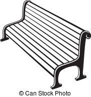 Clip Art Black And White Bench Clipart