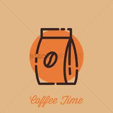 Coffee Bean Bag Vector Graphic