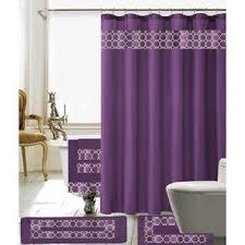 Dark Purple Ruffle Curtains by Purple Shower Curtains You U0027ll Love Wayfair