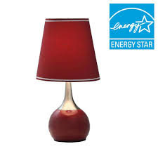 Touch Lamps At Walmart by Limelights 19 5 In Stick Lamp With Charging Outlet And Red Fabric