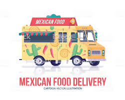 Mexican Food Truck National Traditional Mexican Cuisine Wagon Stock ...