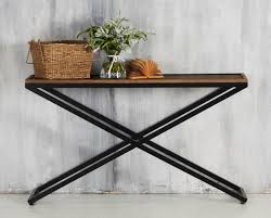 Rustic Style Narrow Sofa Table