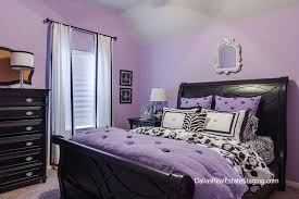 Lavender Bedroom Teen Room Decked Out In Black Furniture And White Accents By Global Design Dealer Holly Bellomy Of Dallas Real Estate Staging