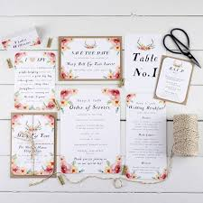 Boho Wedding Invitation Ideas On The English Blog 5