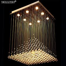 square chandeliers lighting for living room led indoor