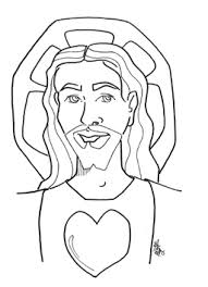 Sacred And Immaculate Heart Coloring Pages Many To Choose From Cute Free