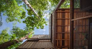 100 Tree House Studio Wood Delightful Treehouse Residence Weaves Through A Forest In