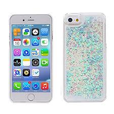 Glitter Case For IPhone 6 6STurpro Hard Transparent Clear Creative Funny 3D Quicksand Liquid Sparkles Bling Cover With Love Hearts