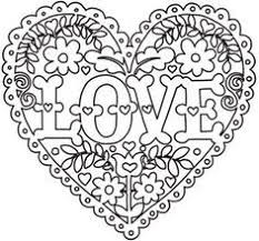 Enjoyable Ideas Heart Coloring Page Intricate Pages Love And Flowers Design