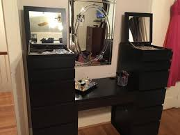 6 Drawer Dresser Tall by Ikea Malm Chest Of 6 Drawers Black Brown Mirror Glass Tall Boy