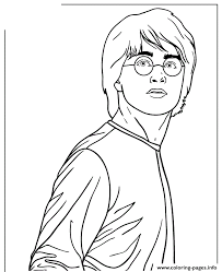 Harry Potter Deathly Hallows Anime Coloring Pages